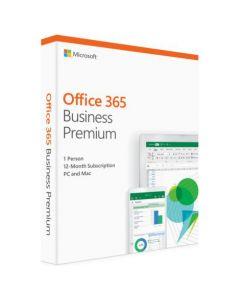 Microsoft Office365 Business Premium англійська мова , коробкова версія Microsoft FPP (бездисковий ліцензійний комплект) для 1 користувача на 1 рік