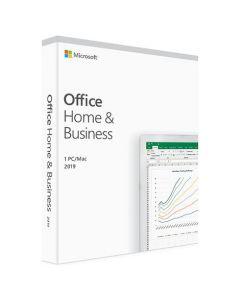 Microsoft Office Дім та бізнес 2019 англійська, коробкова версія Microsoft FPP (бездисковий ліцензійний комплект)  для 1 користувача на 1 рік