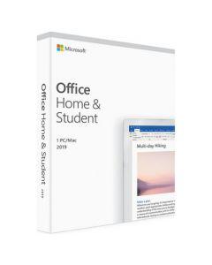 Microsoft Office Дім і навчання 2019 англійська мова, коробкова версія Microsoft FPP (бездисковий ліцензійний комплект) для 1 Пк  на 1 рік